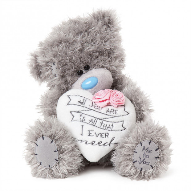 Tatty Teddy White Heart Pillow