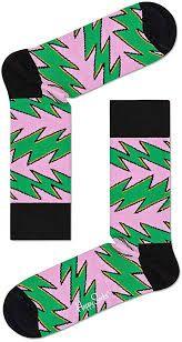 Socks Rock'n Roll Stripe Crew Socks