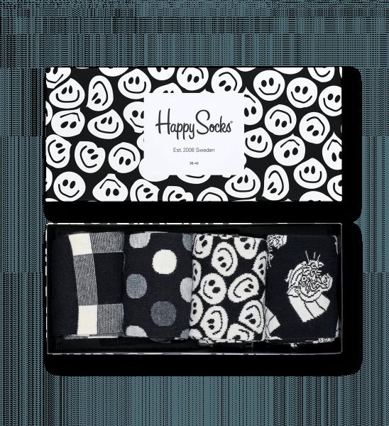 Black & White Gift Box 4 Pack