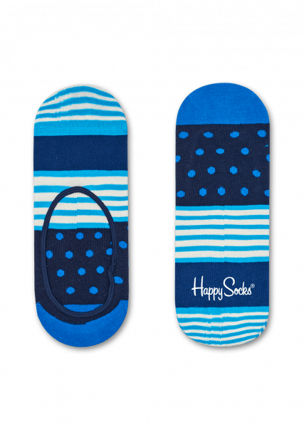Blue Stripe & Dots Liner Secret Happy Socks