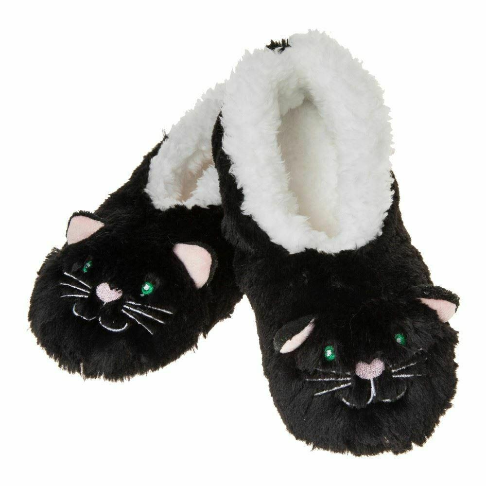 Snoozies -Furry Black Cat