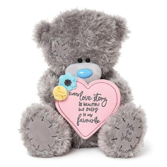 Tatty Teddy Romantic Love Story with floral embellishments