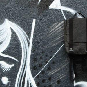 Wren_Black Paper & Cotton Backpack